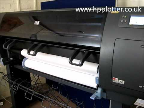 Designjet 4000/4000PS Series - Unload paper/media roll on your printer