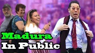 "Bad Bunny, Cosculluela - ""MADURA"" - SINGING IN PUBLIC!!"