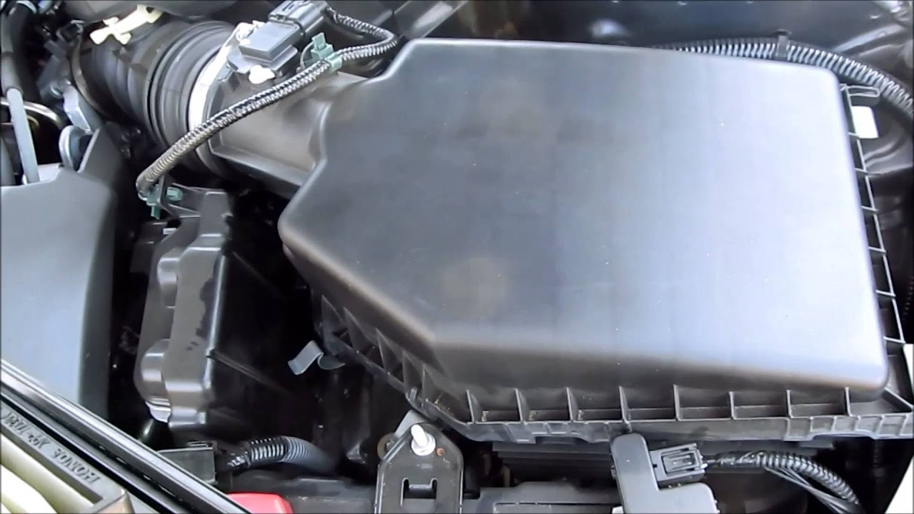 DIY 2013 2014 2015 Honda Accord Air Filter Replacement (i4 engine) - YouTube