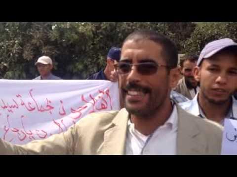 احتجاجات الفلاحين بهوارة على قطع مياه سد عبد المومن