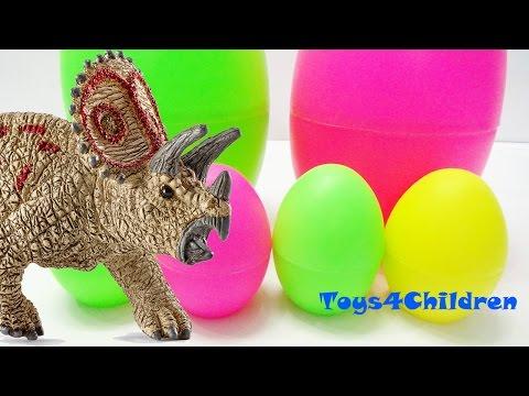 Bóc trứng khủng long trò chơi - Dinosaurs Surprise Eggs by Toys4Children