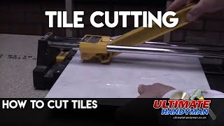 How to cut tiles with a standard tile cutter