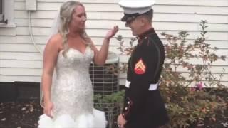 Marine surprises big sister on her wedding day