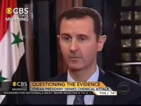 Syria: Syrian President Bashar al Assad   Charlie Rose Interview   September 9, 2013