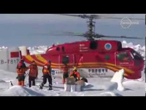 Helicopter rescues all 52 passengers from stranded ship in Antarctica