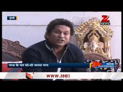 Sachin Tendulkar, Lata Mangeshkar meet at Raj Thackeray's house