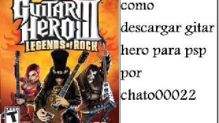 descargar guitar hero para psp gratis