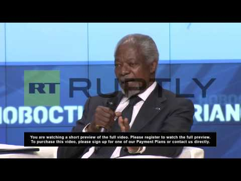 Russia: Security Council never focused on substance - Kofi Annan on Syrian conflict