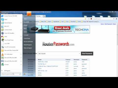 How to get username and password of your router at home