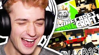 CRAINER REACTS TO SSUNDEE AND SPARKLEZ REACTS TO CRAINERS TROLLS