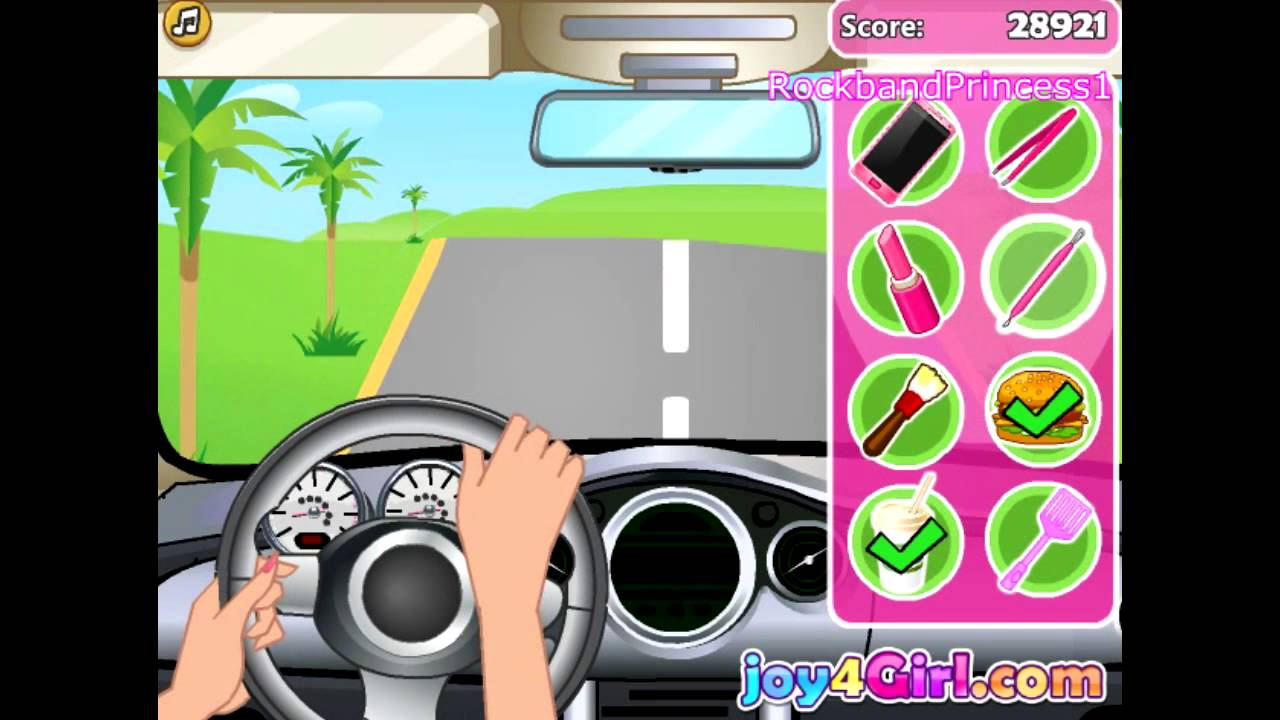 barbie car games free online