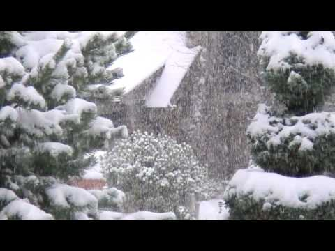 Watch Snow Fall In Quiet Neighborhood, First major snow storm in Portland Oregon, Dec08. Relax and watch the snow fall in a quiet neighborhood. Here the sounds of the southern pacific rail road ta...