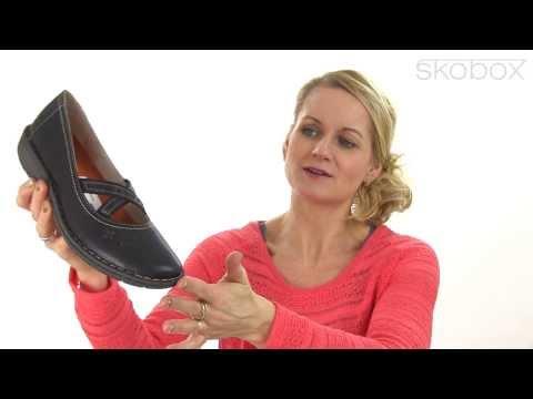 Skobox - Relaxshoe ballerina i sort glat skind - Køb Relaxshoe ballerinaer online