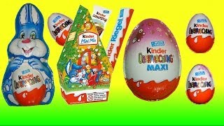 Surprise eggs Kinder Surprise Barbie Mickey Mouse Easter eggs my video animation