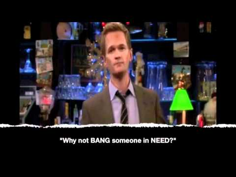 Barney Stinson BEST TOP TEN quotes - How I Met Your Mother, The top 10 Barney Stinson quotes. How I Met Your Mother.