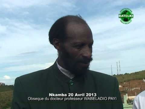 MANDOMBE : OBSEQUES Prof Dr DAVID WABELADIO PAYI image RATELKI vol5