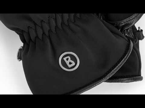 Bogner Jerry Unisex Ski Glove in Black
