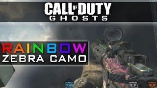 CoD Ghosts RAINBOW Camo - Rainbow Zebra DLC Camos