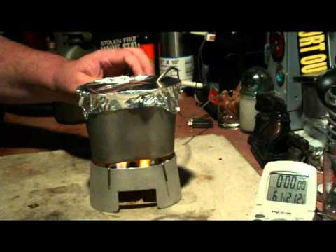 Canteen Cup Stove with Mod 1 using Coghlan's Fuel Tablets - Boil Test #1