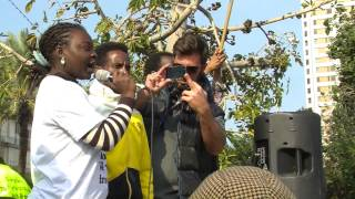 African Refugees Strike For Freedom, Day One, Tel Aviv