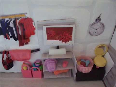 Maison de poupée en carton - YouTube