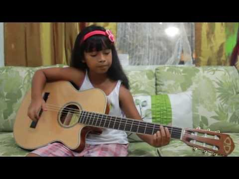 Just Give Me A Reason (Pink) - guitar cover by Gwyn (8yrs old)