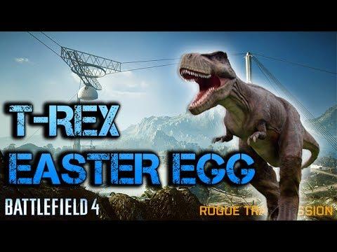 Battlefield 4 | T-REX EASTER EGG ON ROGUE TRANSMISSION | Jurassic Battlefield
