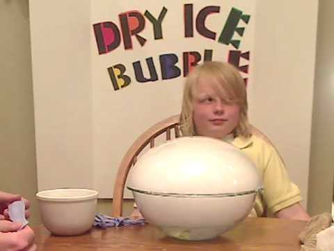 Peyton Science Fair Dry Ice Bubble Youtube