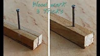 3 trucos de carpintero