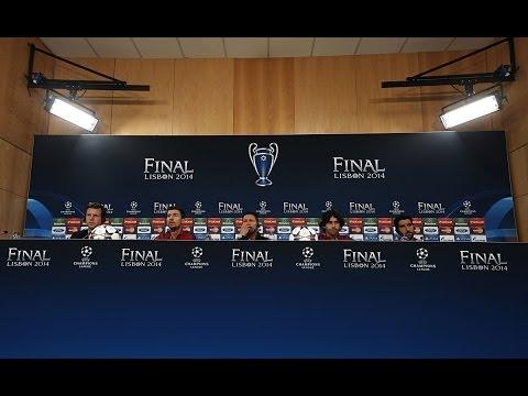 Rueda de prensa del Atlético en Lisboa
