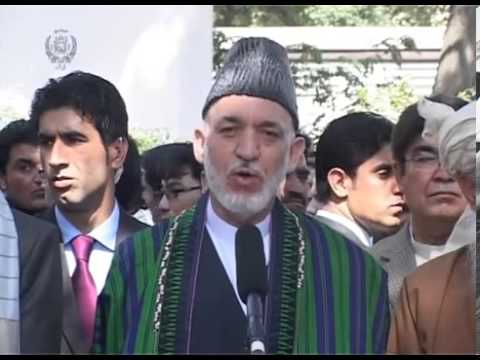 Karzai once again called the Afghan Taliban