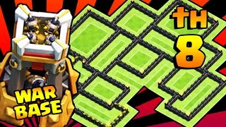 clash of clans melhor layout cv8 de guerra th8 war base anti