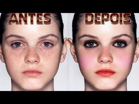 tutorial photoshop cc -  como fazer tratamento de pele e maquiagem digital