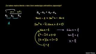 Aritmetično zaporedje – naloga 1