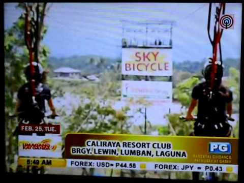 Caliraya Resort Club's Sky Bicycle in Umagang Kay Ganda