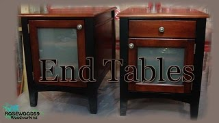 How To Make 2 End Tables U0026 Plans   YouTube