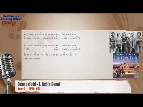 Centerfold - J. Geils Band Vocal Backing Track with chords and lyrics