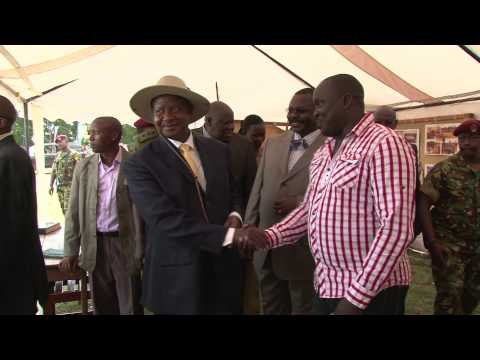 H.E Yoweri Kaguta Museveni Visits the RLP exhibition tent in Arua during the centenary celebrations.