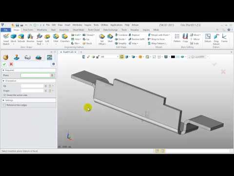 Sheet Metal tutorial - 2.Case Support Rib