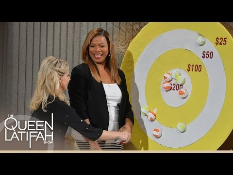 Sarah Michelle Gellar Tries to Hit a Bulls-Eye for Charity on The Queen Latifah Show