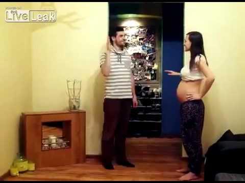 Eşinin Hamilelik Dönemini Videoya Çeken Eş 9 Aylık Değişimini Gösterdi