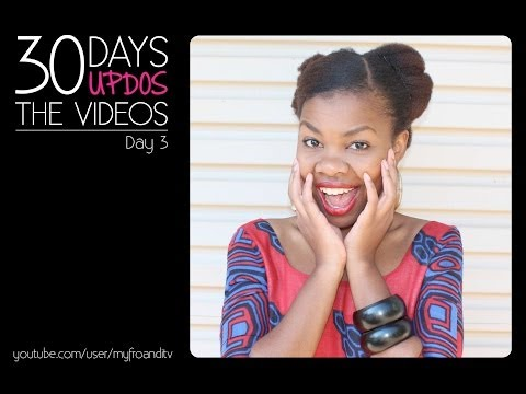 natural hair challenge   30 days 30 updos day 3   youtube
