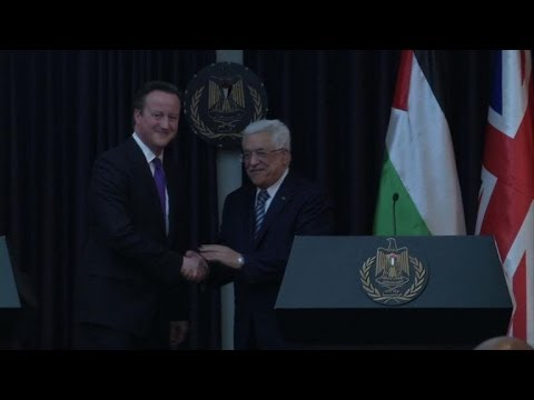 Cameron in Bethlehem calls for a two-state solution