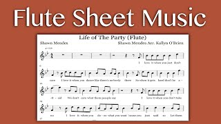 Life Of The Party Shawn Mendes (Flute Sheet Music