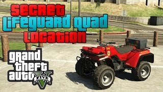 GTA 5 ONLINE : RARE VEHICLES SECRET (LIFE-GUARD QUAD BIKE