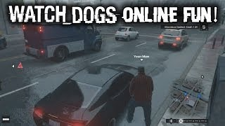 Watch Dogs Multiplayer Gameplay ONLINE FREE ROAM! FUNTAGE