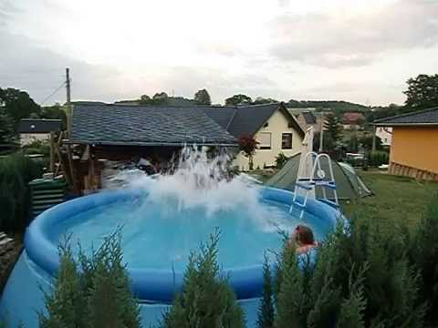 Die perfekte intex pool welle youtube for Garten pool intex
