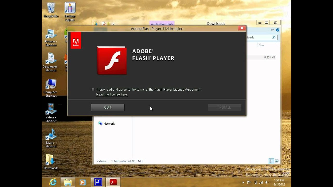 adobe flash player setup for windows 7