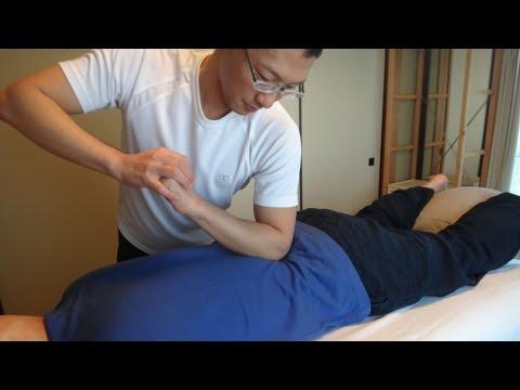 トリガーポイントでしっかり効く整体 (男性, うつ伏せ) Therapeutic massage, Male, Prone
