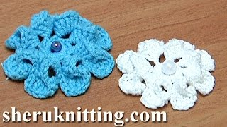 How To Crochet Flower With Eight Curving Petals Tutorial